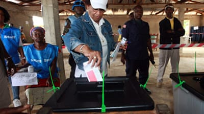 Vote counting under way in Liberia's election