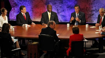 Republican hopefuls clash in TV debate
