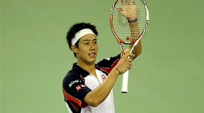 Nishikori faces Murray in Shanghai semis