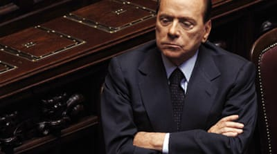 Berlusconi's struggle for political survival