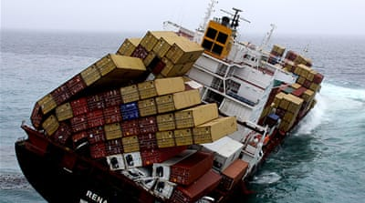Stricken cargo ship was 'rushing to port'
