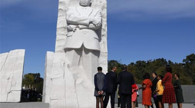 Memorial dedicated to US civil rights leader