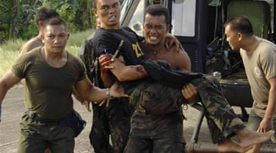 Philippine troops battle southern rebels
