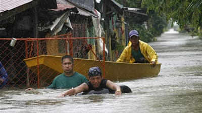 Philippines reels in second typhoon's wake