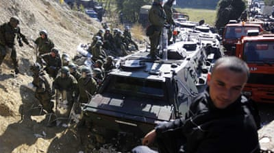 NATO troops in Kosovo border scuffles