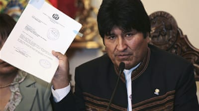 Bolivia scraps controversial highway plan