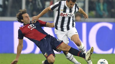 Genoa holds Juventus to draw