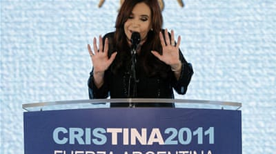 Argentina's Kirchner re-elected by landslide