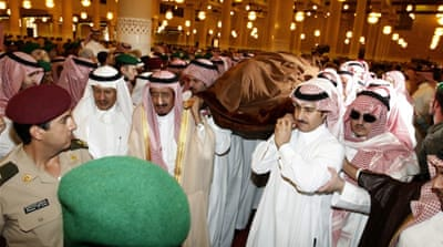 Saudi heir buried amid succession questions