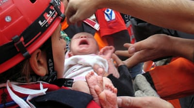 Baby rescued from Turkey quake rubble