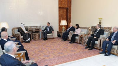 Arab mediators meet Assad over Syria unrest