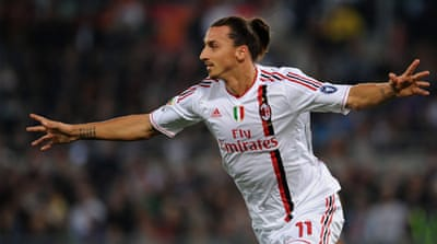 Ibrahimovic double gives Milan crucial win
