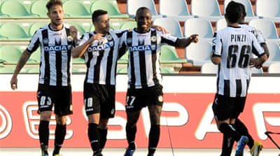 Udinese keep the pressure on Juve
