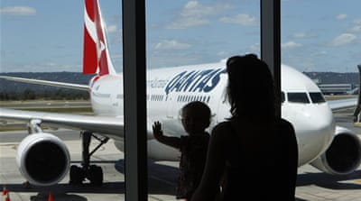Qantas returns to the skies