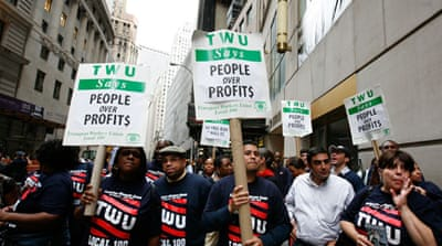 Q&A: Transport union backs Wall Street demo