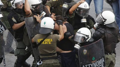 Greek unions strike against austerity plan