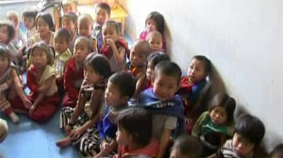 N Korean children suffer from food crisis