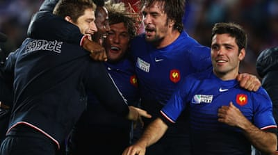 Semi-finalists France send England home
