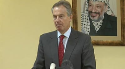 Palestinians urge Blair to quit
