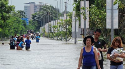 Floods devastate Thailand and Cambodia