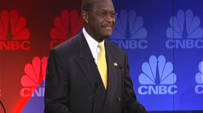 Cain challenged on harassment accusations