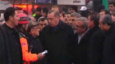 Turkish PM visits earthquake victims