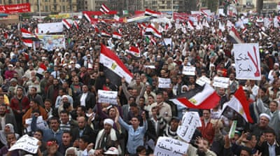 Tens of thousands protest in Egypt