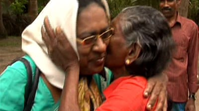 Displaced Sri Lankans return home