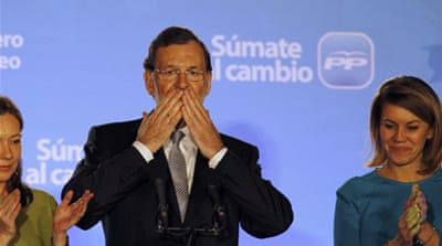 Spain shifts to the right in landslide vote