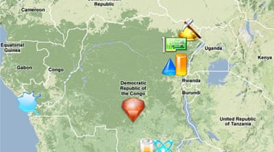 Map: Natural resources in DR Congo