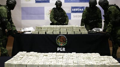 Mexican troops seize $15.3m in cash from car