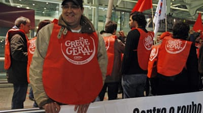 General strike cripples Portugal