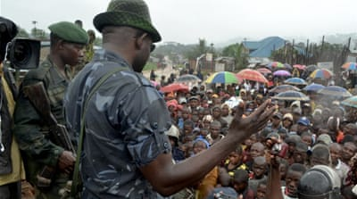 Wanted Congo rebel holds campaign rally