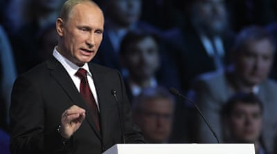 Putin accepts party's presidency nomination
