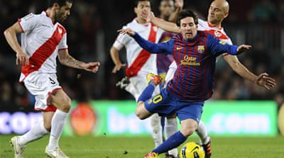 Barca fire past Rayo