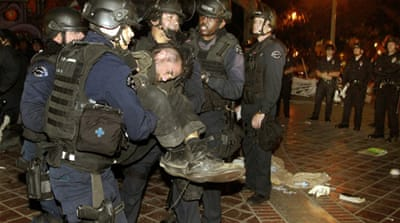 Police arrest hundreds of Occupy LA activists