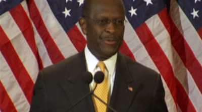 Cain vows not to withdraw from US race