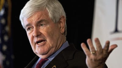 Gingrich calls Palestinians 'invented' people