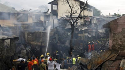Philippines plane crash sparks deadly fire