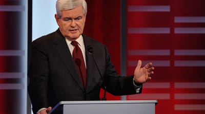 Gingrich stands by 'invented' Palestinians remark