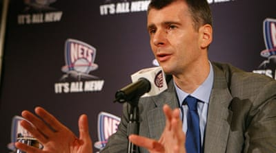 Presidential goal for New Jersey Nets owner