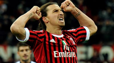 AC Milan go top in Italy