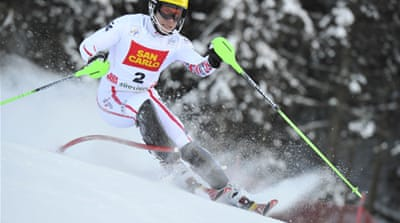 Hirscher slides to lead at Ski World Cup