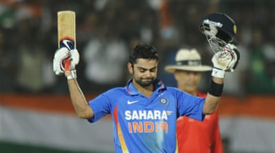 Kohli powers India to win over West Indies