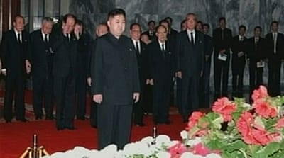 Kim Jong-un leads mass mourning for father