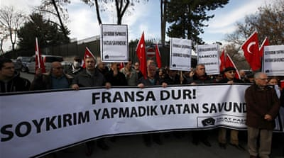 Turkey calls on France to halt genocide bill