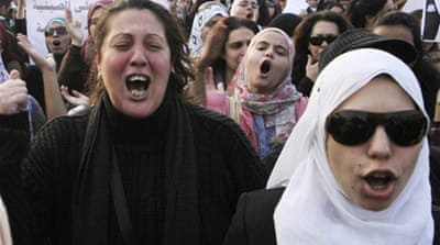 Egyptians protest against beating of women