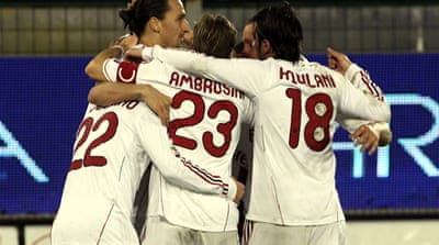 AC Milan edge past Cagliari