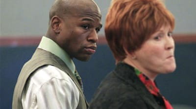 Floyd Mayweather jailed for domestic violence