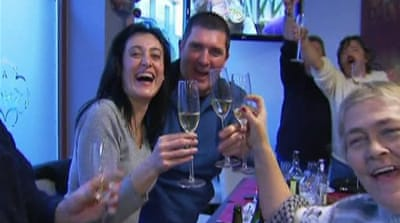 Tiny Spanish town cheers 'fat' lottery win